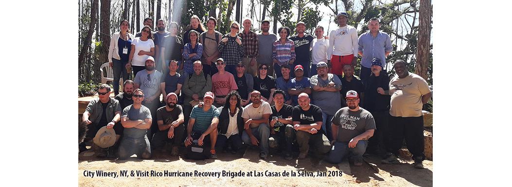 City Winery Hurricane Recovery Brigade at Las Casas, January 2018